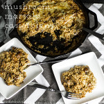 This mushroom Marsala casserole is warm with the deep flavor of Marsala and full of mushrooms and gooey, melty cheese! | chattavore.com
