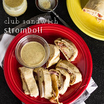 This club sandwich stromboli is made with all the ingredients of a club sandwich, wrapped up in pizza dough and baked till melty and delicious! | chattavore.com