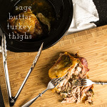 Slow cooker sage butter turkey thighs are everything that you want from turkey-flavorful, moist, and fall-off-the-bone tender-without the worry of heating up the house or having to constantly check a thermometer. | chattavore.com