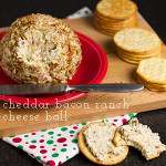 Cheddar bacon ranch cheese ball is easy to make and so addictive you'll be asked to bring it to every party you go to! | chattavore.com