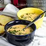 Creamy Tomato Soup with Artichokes