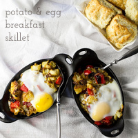 Cheesy Potato and Egg Breakfast Skillet