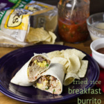 Easy breakfast burritos with fried rice are a great, quick breakfast that allow you to use up your leftover Chinese takeout! | recipe from Chattavore.com