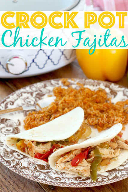 Crock Pot Chicken Fajitas (graphics, www.thecountrycook.net)
