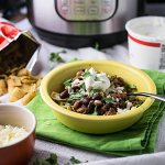 Making this taco chili in your pressure cooker or Instant Pot means slow cooked flavor in a fraction of the time! Slow cooker instructions included, though. | recipe from Chattavore.com