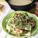 Brisket Nachos with Homemade Queso