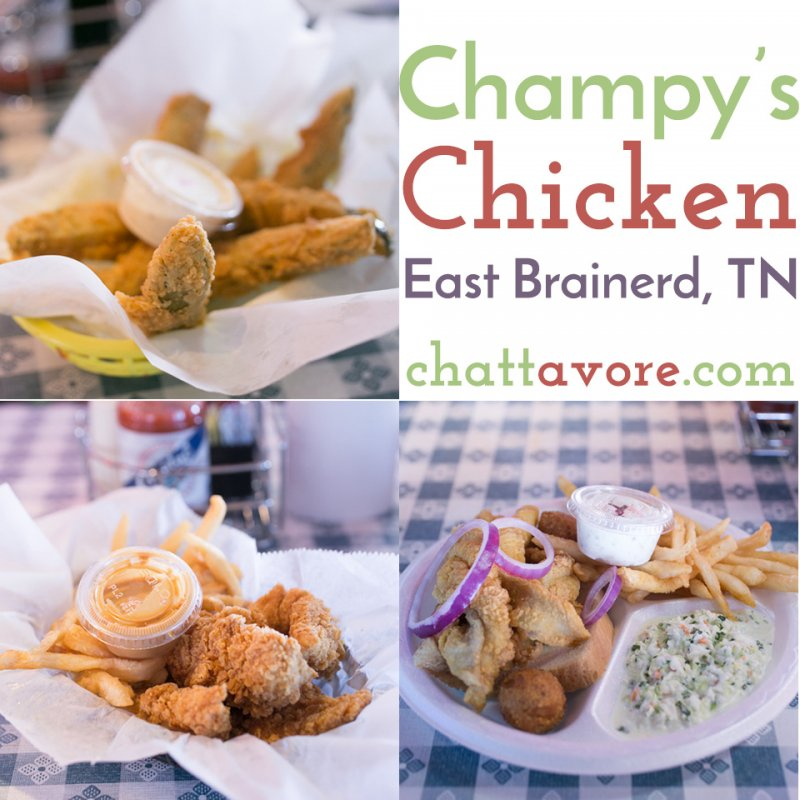 The East Brainerd location of Champy's Chicken serves up the same fried chicken & Mississippi Delta favorites of their other locations in a fun atmosphere. | Restaurant Review from Chattavore.com