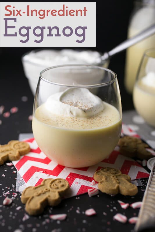 This homemade eggnog is easy and only includes six ingredients, so you'll know exactly what you're drinking this holiday season. | Recipe from Chattavore.com