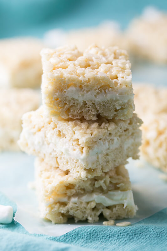 Wedding Cake Rice Krispies Treats Are Pretty Much Heaven In Form After
