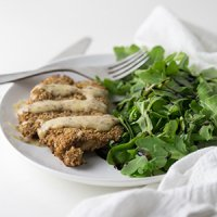 Crunchy Sheet Pan Sesame Crusted Chicken with Apricot Mustard