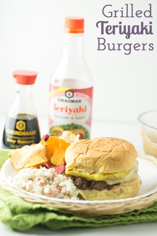 This grilled teriyaki burger with pineapple and white sauce is a delicious way to celebrate Memorial Day weekend! #KickinItWithKikkoman #CollectiveBias #Ad   Recipe from Chattavore.com