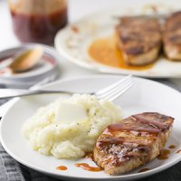 Seasoned Skillet Pork Chops with Tangy Sauce