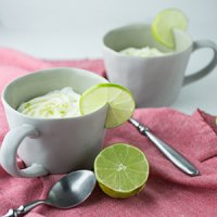 Easy Mug Cake with Lime & Cream Cheese