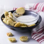 Fried pickles are a classic appetizer served at many restaurants. Oven fried pickles give you the delicious crunch without the mess of frying! | recipe from Chattavore.com