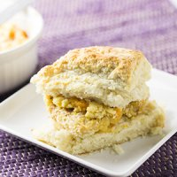 Chicken Biscuit with Honey-Peach Butter