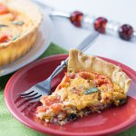 Pimento cheese tomato pie is a perfectly simple, Southern dish that is wonderful as a main or a side, for breakfast, lunch, or dinner! | Recipe from Chattavore.com