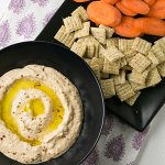 Perfect Roasted Red Pepper Hummus