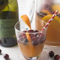 Holiday Prosecco Punch with Cranberry & Orange