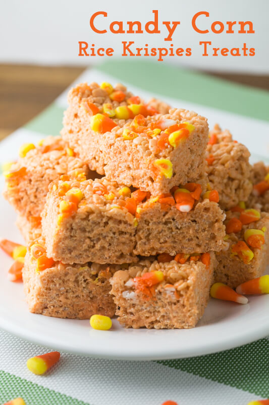 Do you love candy corn or love to hate it? If it's your favorite, candy corn Rice Krispies treats will top your list of favorite treats this Halloween!   Recipe from Chattavore.com