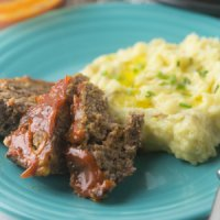 Cheeseburger Meatloaf and Mashed Potatoes in the Instant Pot