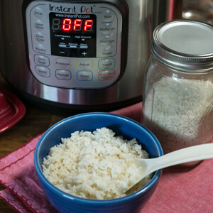 The Instant Pot is great for all sorts of things, but rice is one of my favorites. Here are my super-simple directions for cooking rice in the Instant Pot (video included)! #InstantPot #InstantPotBasics #InstantPotCooking #InstantPotRice | Recipe and video from Chattavore.com